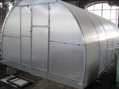 Теплица из сотового поликарбоната каркас-оцинкованная труба 2х3х6 (ком